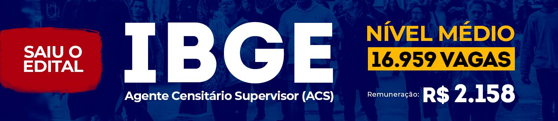 IBGE - Agente Censitário Supervisor (ACS)