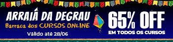 Arraiá da Degrau Online 65% OFF - Até 28 de Maio