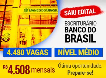 Saiu Edital Banco do Brasil. 4480 vagas Nível médio