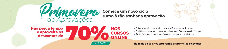 Promoção de Primavera \ Cursos Online | 70% off até 30/09