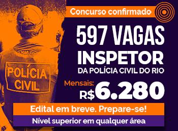 Concurso Policia Civil Rio de Janeiro Inspetor