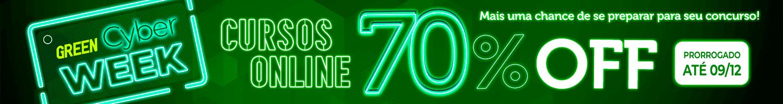 Cyber Week Online Prorrogada. 70% Off Só Até Segunda 09/12