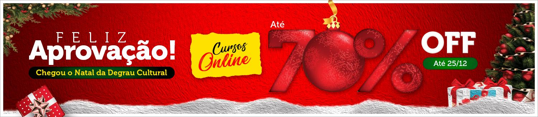 Feliz Aprovação. Natal Chegou! Cursos Online 70% OFF