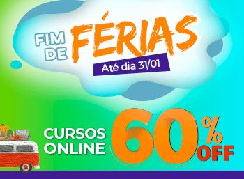 Promoção de Fim de Férias! Cursos Online 60% Off até 31/01