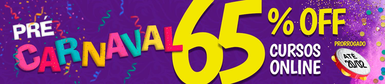 Promoção Prorrogada! Não perca tempo. Garanta já seu curso Online com 65% de Desconto.