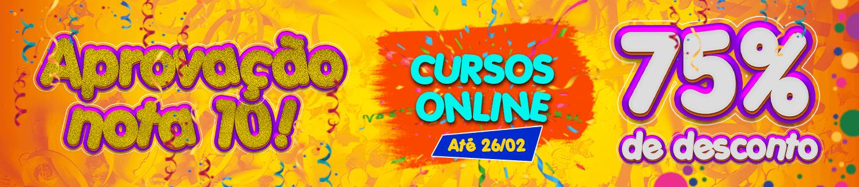 Promoção de Carnaval! Não perca 75% nos Cursos Online!