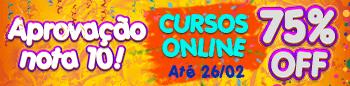 O Carnaval chegou! E com ele um desconto de 75% nos Cursos Online.