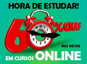Aproveite nossos descontos nos Cursos Online! 60% OFF!