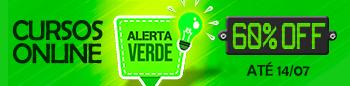 Alerta Verde. 60% de Desconto nos Cursos Online.
