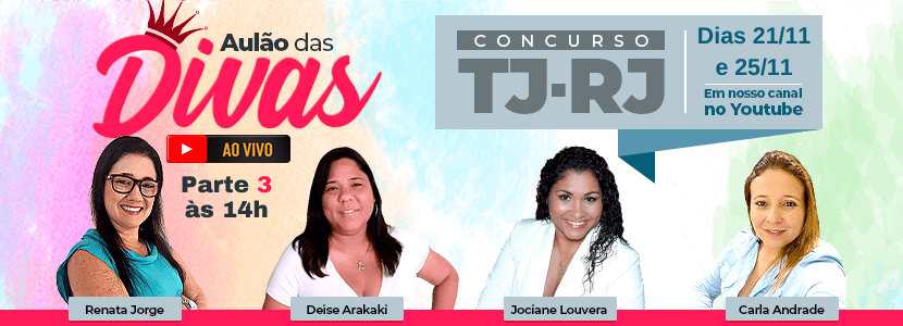 Imagem notícia Concursos MP-RJ e TJ-RJ: aulão gratuito com as Divas do Direito