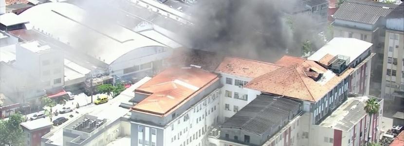 Imagem notícia Concurso Ministério da Saúde-RJ: incêndio no Hospital Federal de Bonsucesso evidencia descaso