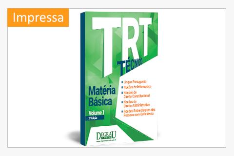 TRT Matéria Básica Volume I 2ª Edição impressa