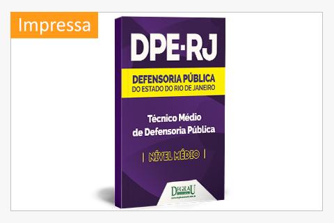 DPE - RJ - Técnico Médio da Defensoria - 2ª Edição - Cód. 1163